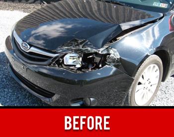 Bumper Damage Before
