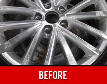 Wheel Rim Damage Before