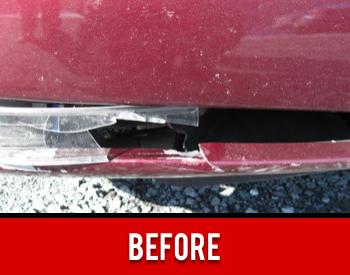 Headlight Damage Before