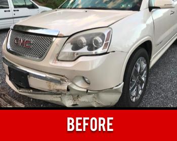 Front Bumper Damage Before