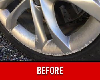 Wheel Scratch Damage Before
